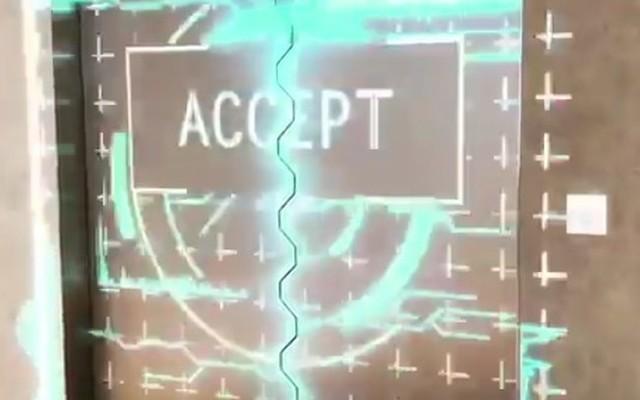 バンダイの入館ゲートがプロジェクションマッピング.jpg