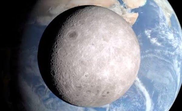 NASAが公開した月の裏側。静かの海