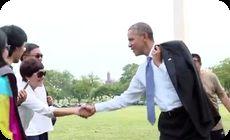 オバマの散歩