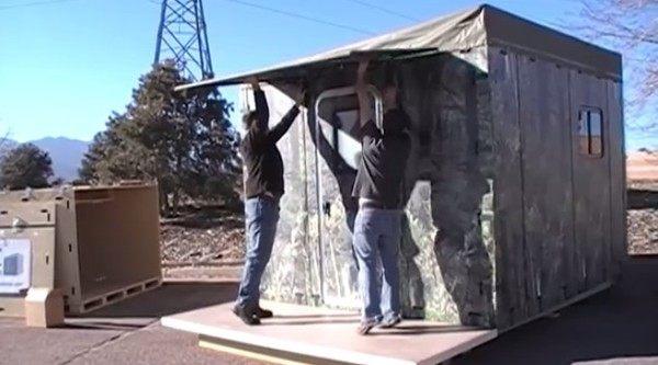 組み立て式簡易小屋
