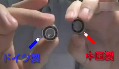ベアリングのテスト、中国製とドイツ製