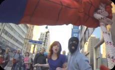 スパイダーマンのフラッシュモブ