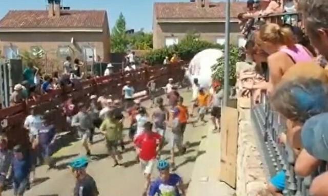 スペインの牛追い祭りの代わりにボール.jpg