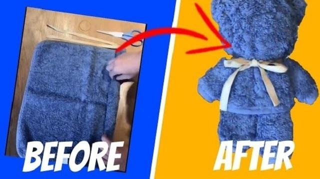 タオル一枚でテディベアを作る方法.jpg