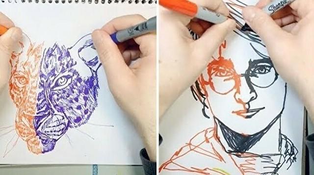 両手で同時に絵を描く達人.jpg