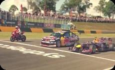 F1バイク対決レース