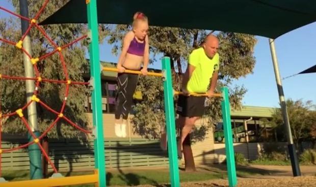 パパと娘の体操