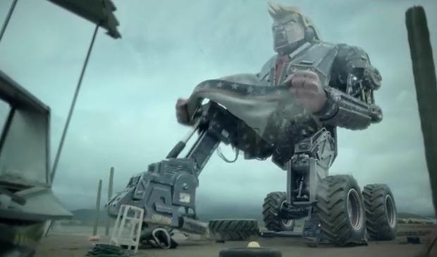 トランプの巨大ロボットショートフィルム
