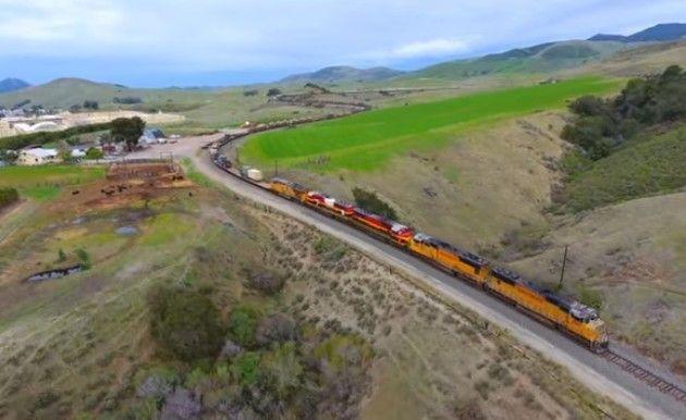 軍用貨物列車の絶景