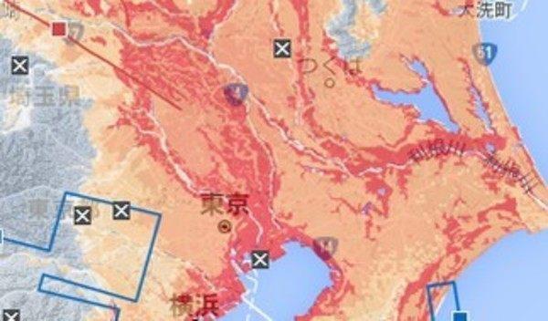 地盤の強さマップ