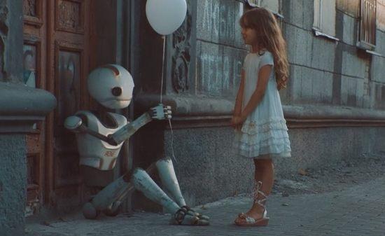 電池切れのロボットアニメーション