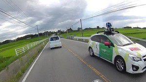 Googleカーを撮った