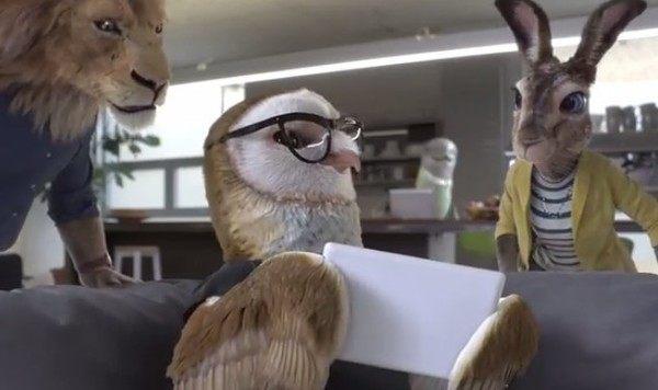 動物のビジネスマン