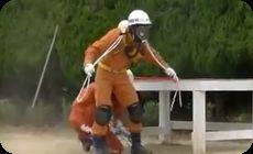 日本の消防団員の動きが凄い