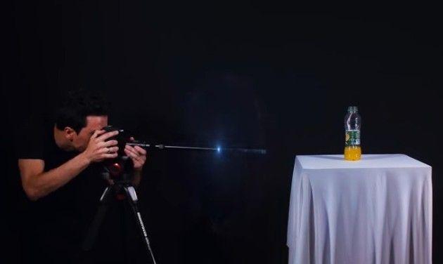 弾丸視点の映像