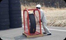 タイヤの空気圧の実験