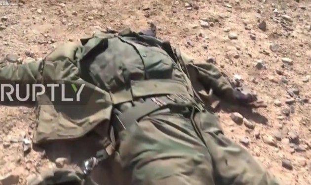 シリア兵虐殺現場