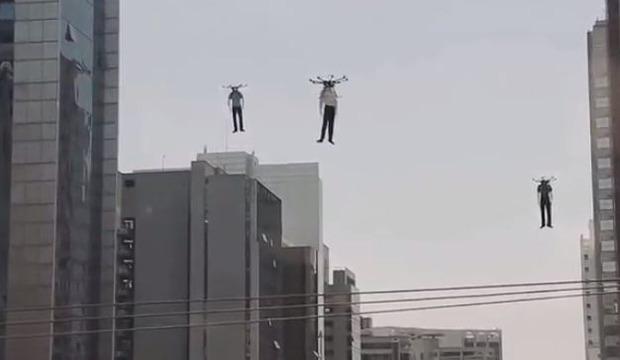 クアッドコプターでマネキンを飛ばす服屋の広告プロモーション (2)