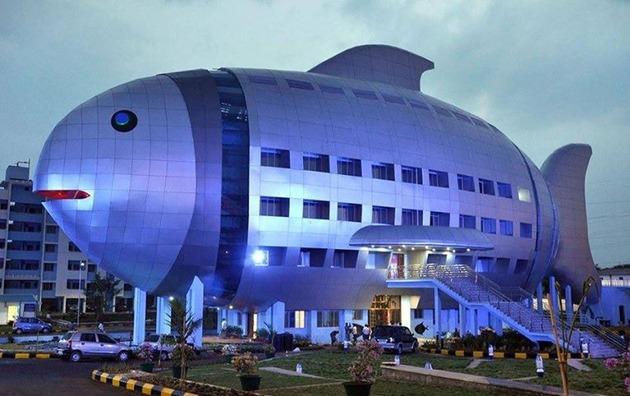 インドの魚のビル (2)