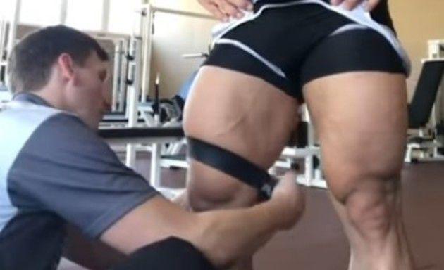 競輪選手の足の筋肉 (1)