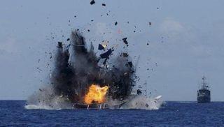 インドが中国船を爆破