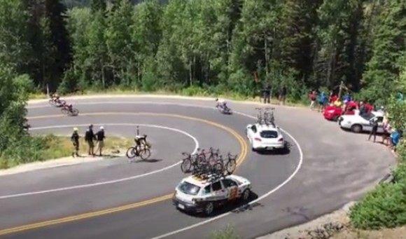 自転車レースの連鎖事故