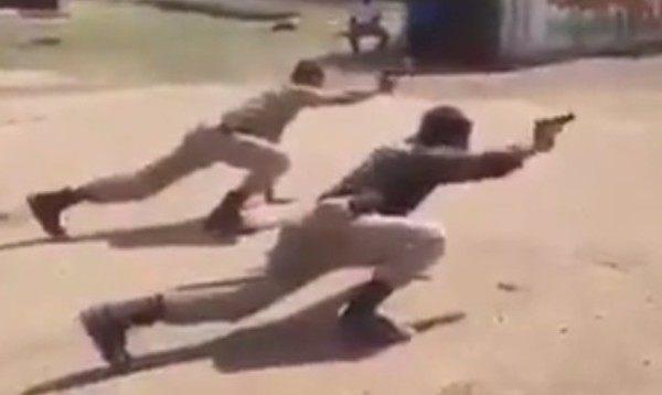 インド警察の射撃訓練