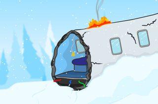雪山に墜落した飛行機からの脱出ゲーム