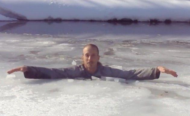 もしも氷の池に落ちたら
