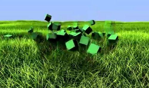CGで草の表現