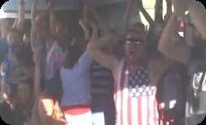 ワールドカップサッカーの盛り上がり、歓声