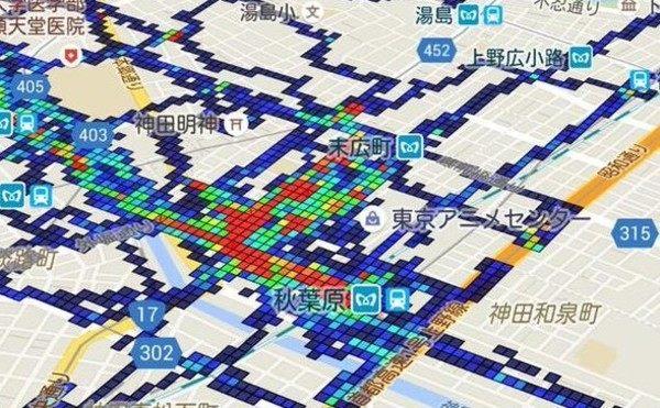 グーグルマップで行った場所を塗りつぶせるアプリ