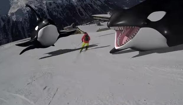 スキー場のCG