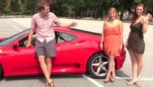 フェラーリと美女