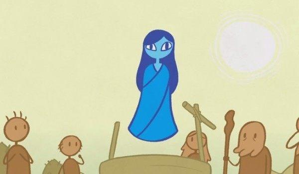 杖を間違えた水の妖精