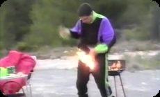 衣服に火が付いた場合