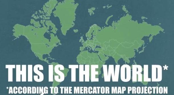 世界の大陸大きさ比べ (1)