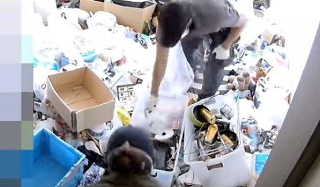 汚部屋の清掃