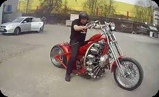 飛行機のエンジンバイク