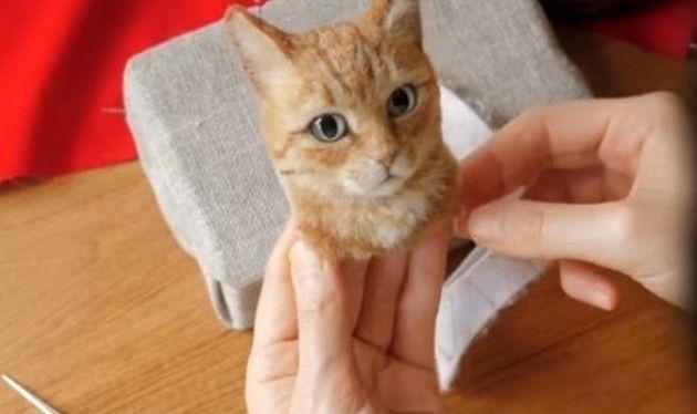 ネコのフェルト人形