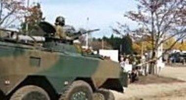 自衛隊の戦車の脱輪